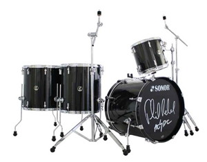 Sonor Phil Rudd Signature 4 Piece Shell Kit Drum Set - Black [SSE09PRKITC]