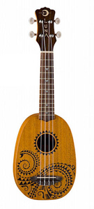 Luna Guitars Tattoo Pineapple Ukulele [uke tattoo]