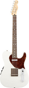 Fender Acoustasonic Telecaster Acoustic Electric Guitar - Olympic White [0144500305]