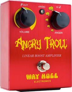 Way Huge WHE101 Angry Troll Boost Guitar Effects Pedal