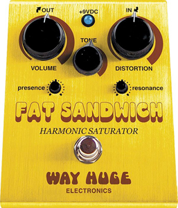 Way Huge WHE301 Fat Sandwich Harmonic Saturator Distortion Guitar Effects Pedal [whe301]