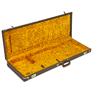 Jazzmaster / Jaguar Hardshell Case - Brown w/ Gold Plush Interior