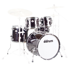 Ddrums DM22 Dominion Maple Player 5 Piece Shell Kit Drum Set - Black [DM22 BLK]