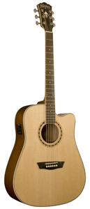 Washburn WD10SCE Dreadnought Acoustic-Electric Guitar