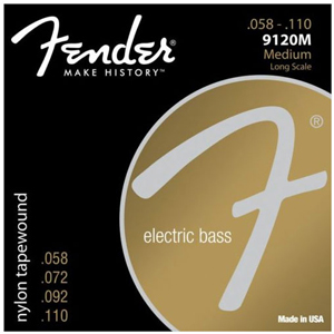 Fender 9120M Nylon Tapewound 4 String Bass String Set 58-110