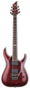 ESP H1001FR LTD Deluxe Floyd Rose Electric Guitar - See Thru Black Cherry  [LH1001FRSTBC]