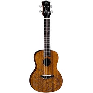 Luna Guitars Concert Tattoo Ukulele Mahogany