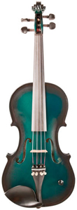 Barcus Berry Vibrato Acoustic Electric Violin - Metallic Green Burst