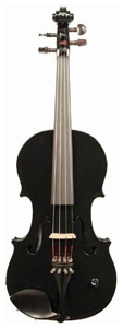 Barcus Berry Vibrato Acoustic Electric Violin - Piano Black