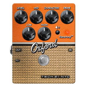 Tech21 Oxford Distortion Guitar Effects Pedal
