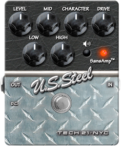 Tech21 U.S. Steel Overdrive Guitar Effects Pedal  [711099]