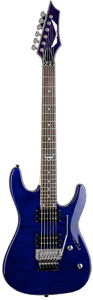 Dean Custom 350 Floyd - Transparent Blue [c350f tbl]