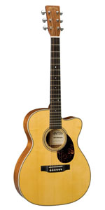 OMCE Mahogany Acoustic-Electric Guitar with Case - Natural Finish
