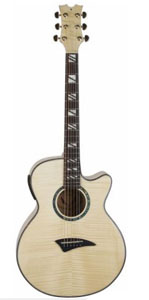 Dean Performer Acoustic Electric Guitar Flame Maple Gloss Natural with Aphex  [pe fm gn]
