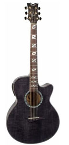 Dean Performer Acoustic Electric Guitar Flame Maple Trans Black [pe fm tbk]
