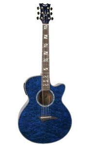 Dean Performer Acoustic Electric Guitar Quilt Ash Trans Blue [PE QA TBL]