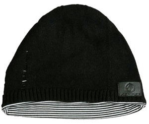 Sound Disk Beanie - Knit Black Fitted
