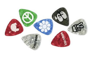 Planet Waves Woodstock 10-Pack Pick Collection - Medium