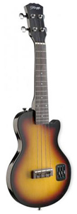 Stagg Electric L Solid Body Ukulele - Sunburst [EUK L-SB]