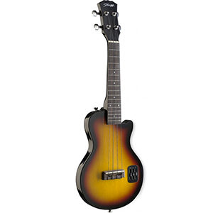Electric L Solid Body Ukulele - Sunburst