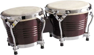 BW-200-CH Latin Wood Bongos, Cherry