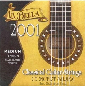 LaBella 2001 Medium Tension Classic Guitar Strings [2001med]