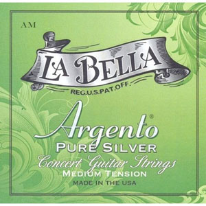 LaBella Argento Nylon Trebles/Pure Silver Wound Basses Medium Tension [AM]