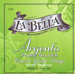 Argento Nylon Trebles/Pure Silver Wound Basses Hard Tension