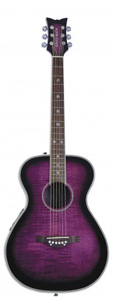 Daisy Rock Pixie Acoustic-Electric - Plum Purple Burst