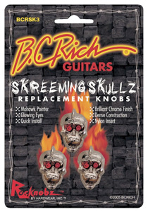 BC Rich Screeming Skulls Replacement Knobs - 3 Pack