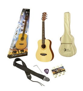 Luna Guitars Safari Muse Travel Guitar Pack - Spruce [SAFPK]