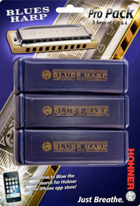 Hohner Blues Harp Harmonica Pro Pack [3P532]