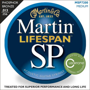 Martin SP 7200 Phosphor Bronze Acoustic Strings Medium