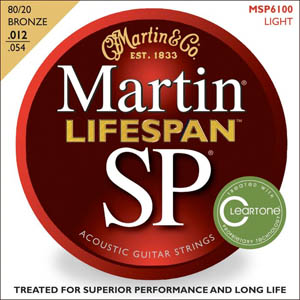 Martin SP 6100 80/20 Bronze Lifespan Coated Acoustic Strings Light