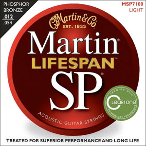 Martin SP 7100 Phosphor Bronze Lifespan Coated Acoustic Strings Light