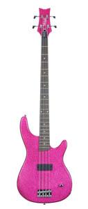 Debutante Rock Candy Electric Bass Guitar - Atomic Pink