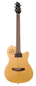 Godin A6 Ultra Semi-gloss Semi-Acoustic-Electric Guitar - Natural