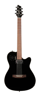 Godin A6 Ultra Semi-gloss Semi-Acoustic-Electric Guitar - Black
