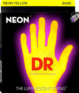 DR NYB-45 Neon Phosphorescent Bass Strings - Yellow [nyb5-45]