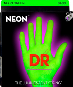 NGB5-45 Neon Phosphorescent Bass Strings - Green