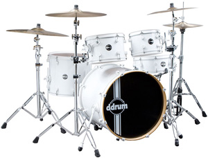Ddrums Reflex 5PC Shell Pack White on White [reflex wht/wht 22 5pc]