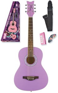 Daisy Rock Debutante Jr. Miss Acoustic Starter Pack - Popsicle Purple [7211]