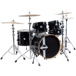Ddrums Reflex 5PC Shell Pack Black on Black [reflex blk/blk 22 5pc]