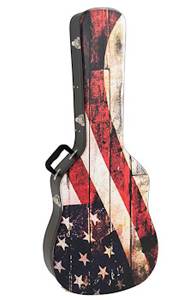 Kaces Grafix Acoustic Guitar Hardshell Case - Old Glory [GWHA-OG001]