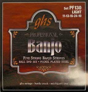GHS PF130 Light Banjo Strings