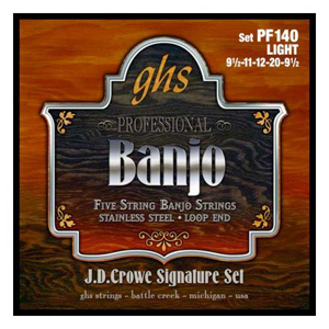 GHS PF140 J. D. Crowe Signature Light Banjo Strings
