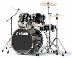 Sonor F2007 Stage 2 Series Shell Pack Drum Set - Black [F2007 STAGE 2 BK]
