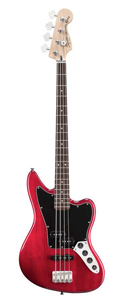 Vintage Modified Jaguar Bass Special - Crimson Red Transparent