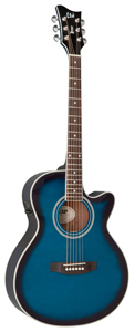 LTD Xtone AC-5E - See Thru Blue Sunburst
