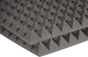 Auralex Studiofoam Pyramid - Twelve 2 Inch, 2x2 Foot Panels Charcoal [2PYR22CHA-HP F]